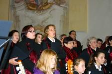 Abb. der Chorgemeinschaft Emmersdorf bei einem Konzert