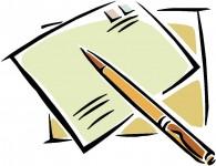 Abb. eines handgezeichneten Briefes und eiener Füllfeder