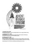 Abb. des Ankündigungsflyers für die Adventkonzerte. Zu sehen ist eine strichgrafik der Pfarrkirche St. Nikolaus zu Emmersdorf mit einem Weihnachtsstern im Hintergrund.