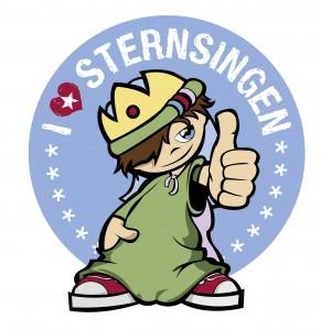Abb. des Logos der Sternsinger (Cartoon)