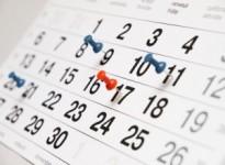 Abb. eines Kalenderblattes mit Pins